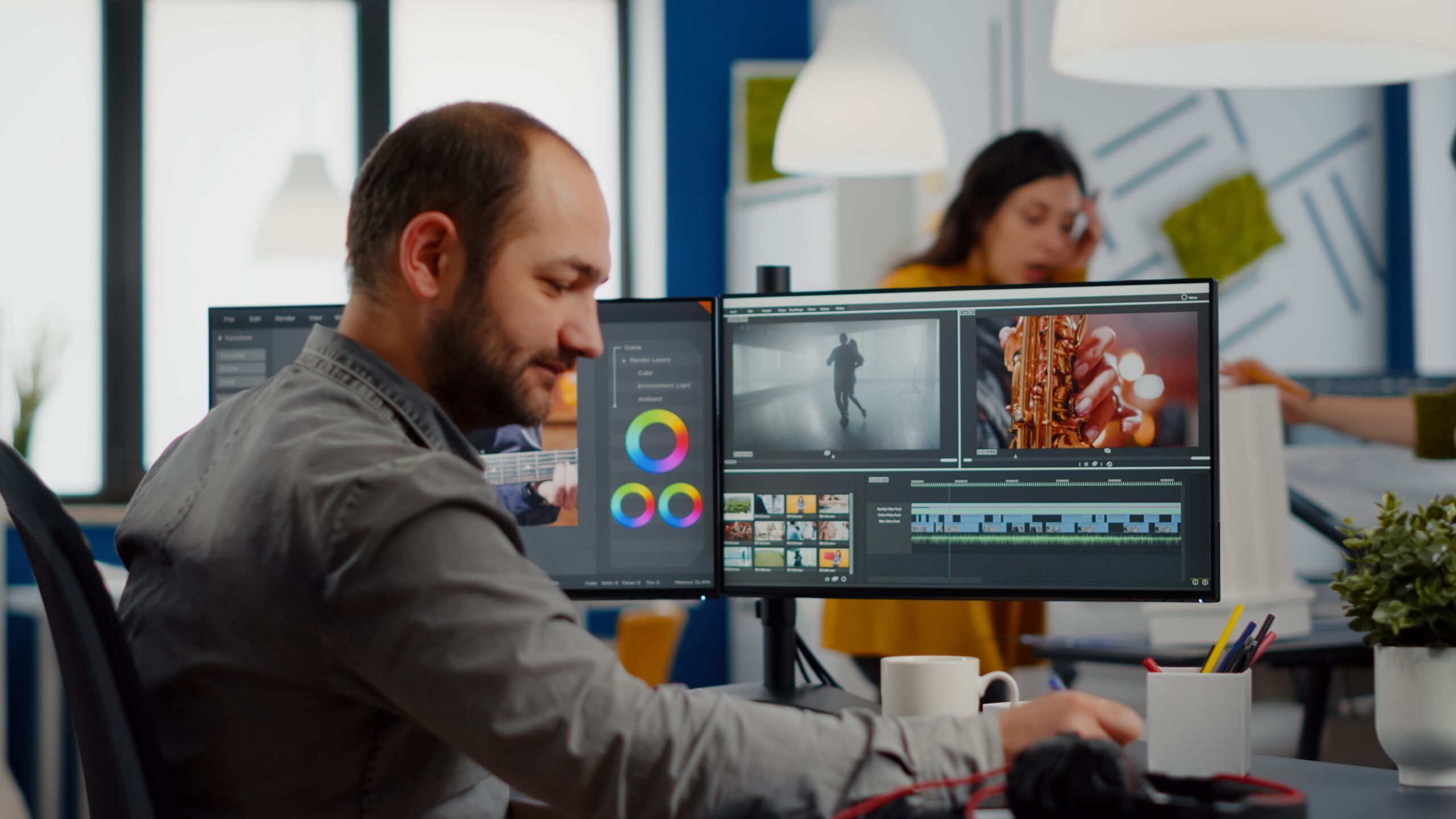 video maker editing movie using post production so 484QDJ9 min scaled